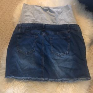 thyme maternity Skirts - NWT Thyme Maternity Large Jean Skirt